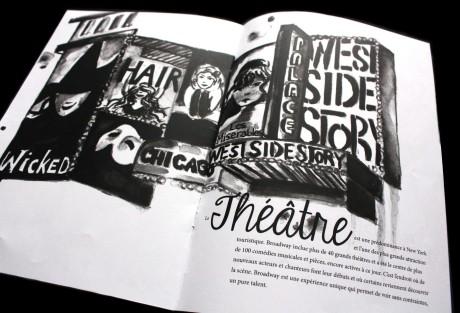 Watercolor of Broadway, New York. // Aquarelle de Broadway, New York. // 2012, Paris, France.